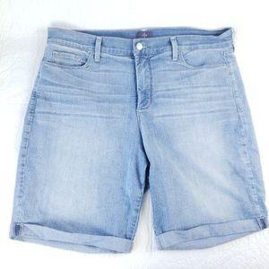 NYDJ Briella 18W (40x10 Actual) Denim Cuff Shorts